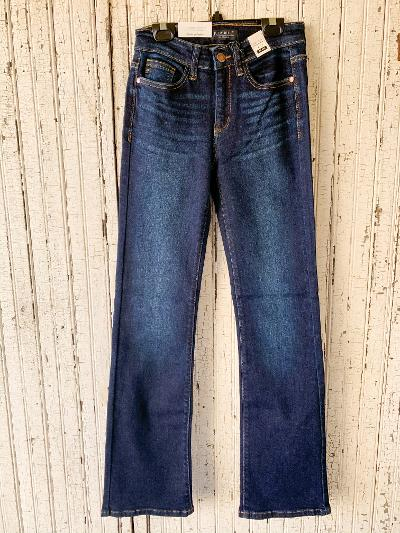 Judy Blue | The Only Way Mid-Rise Boot Cut Jeans in Dark Wash