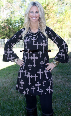 Heavenly Divine Tunic with Crosses