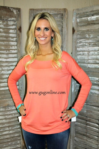 Piko Tunic Top in Coral