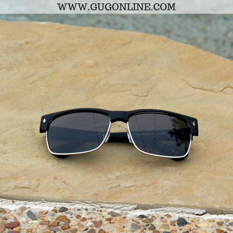 The Callie Clubmaster Sunglasses in Black