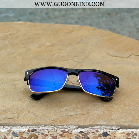 The Callie Clubmaster Sunglasses in Blue