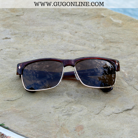 The Callie Clubmaster Sunglasses in Brown