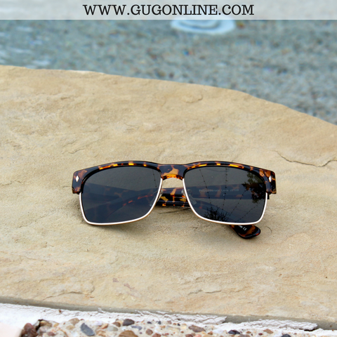 The Callie Clubmaster Sunglasses in Tortoise