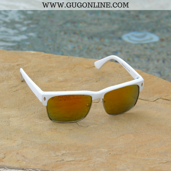 The Callie Clubmaster Sunglasses in White