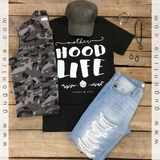 Mother HOOD Life Black Short Sleeve Tee Shirt