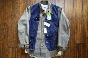 Sugarcane 9 oz. WABASH stripe work vest