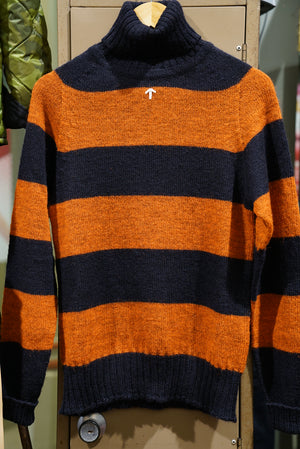 Nigel Cabourn roll neck rugby strip