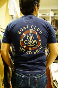 Glad hand old crow Henley tee