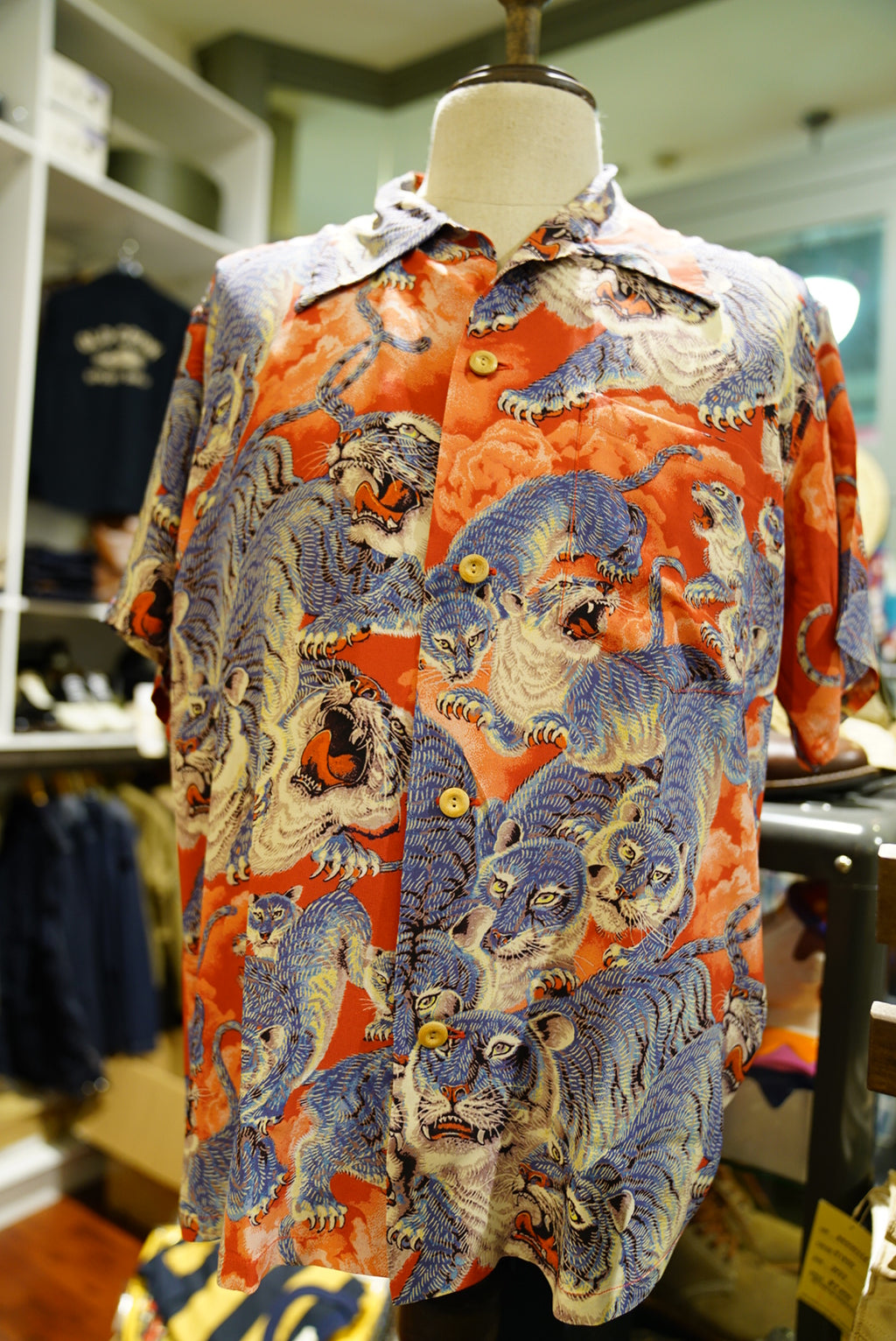 "Sunsurf Hawaiian shirt ""hundred tiger"" special edition"