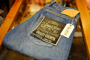 Sugar cane taper fit washed jeans