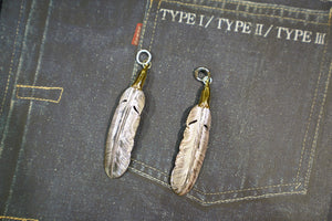LarrySmith 18K EAGLE HEAD PLAIN FEATHER
