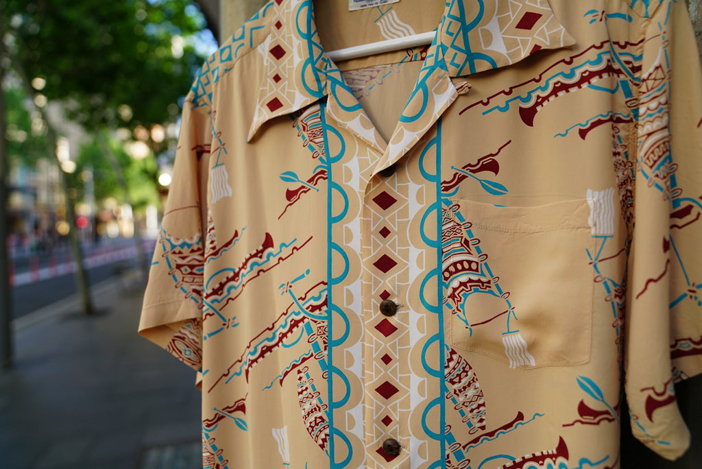 Sunsurf Polynesian canoe shirt