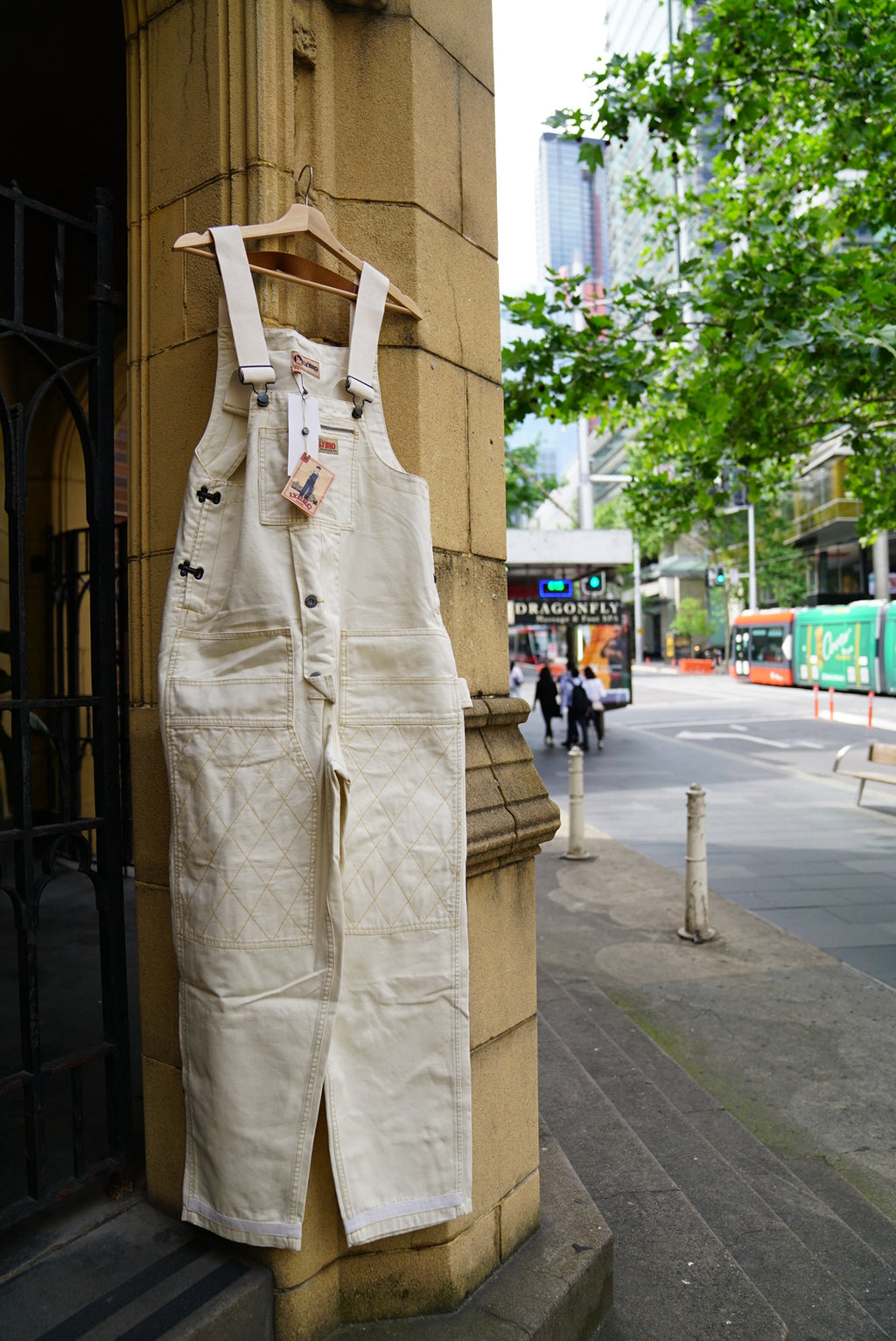 Nigel Cabourn White Canvas Dungaree 15% off