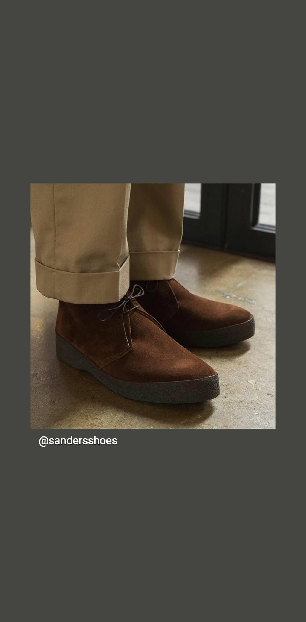 Sanders shoe Hi Top chukka