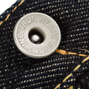 "Iron Heart IH-1955S Indigo 21oz Selvedge Denim ""1955"" Straight Cut"