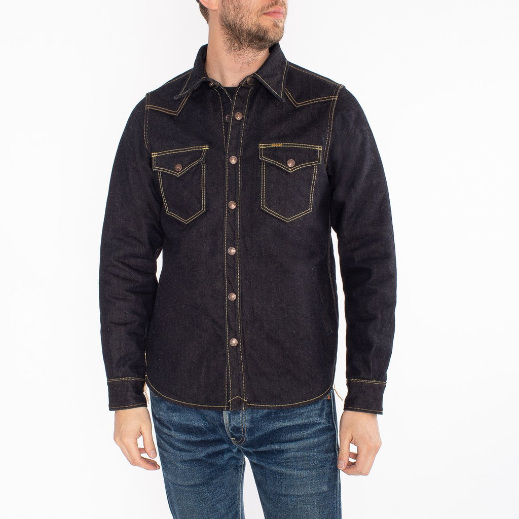 Iron heat 14.7OZ DENIM BLANKET LINED CPO SHIRT