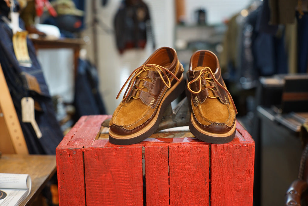 Yuketen 2tone Ghillie Moc boots 10% off