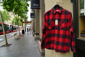 SugarCane heavy flannel shirt Red