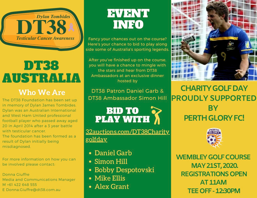 """Play with Celebs"" Auction Now Open for DT38 Australia's First Charity Golf Day"