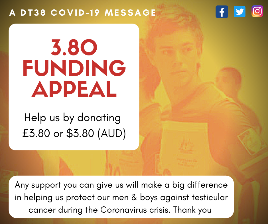 Appeal for critical DT38 Funding during Covid-19