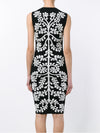 Sleeveless Jacqaurd Sheath Dress