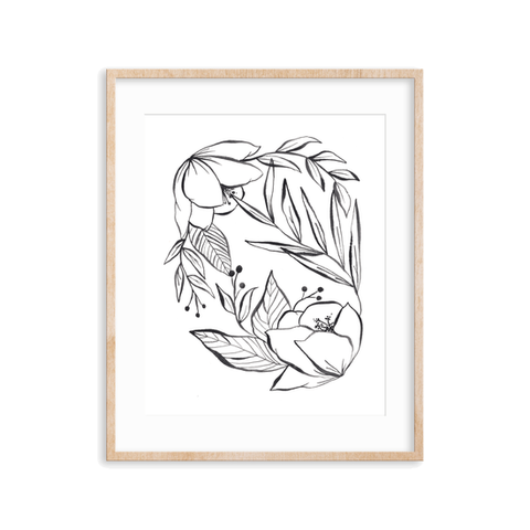 Minimal Bouquet Art Print