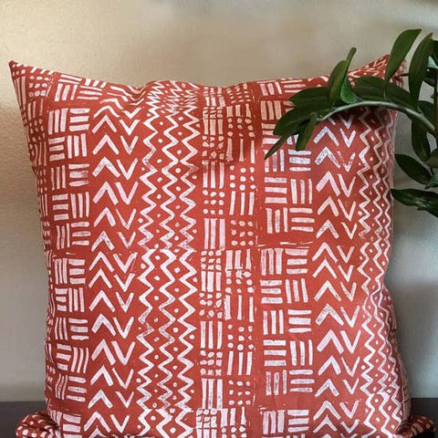 Sienna Mudcloth Pillow Cover