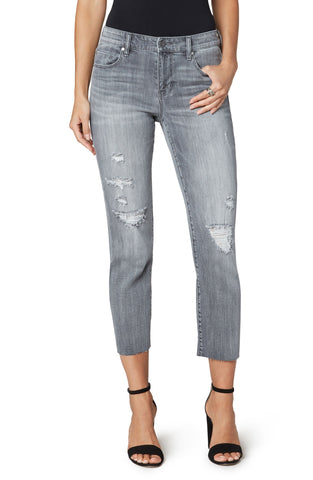 "Cropped Jean 26"" Frayed bottom"