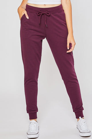 French Terry Jogger-Plum