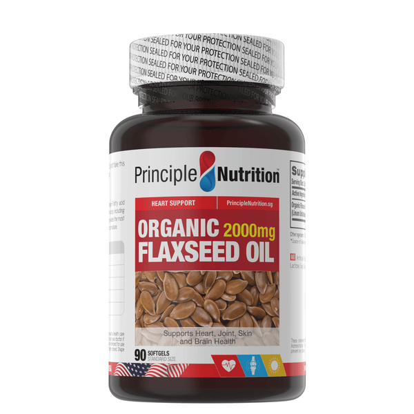 Organic Flaxseed Oil 2000mg (90s) - HealthPasar