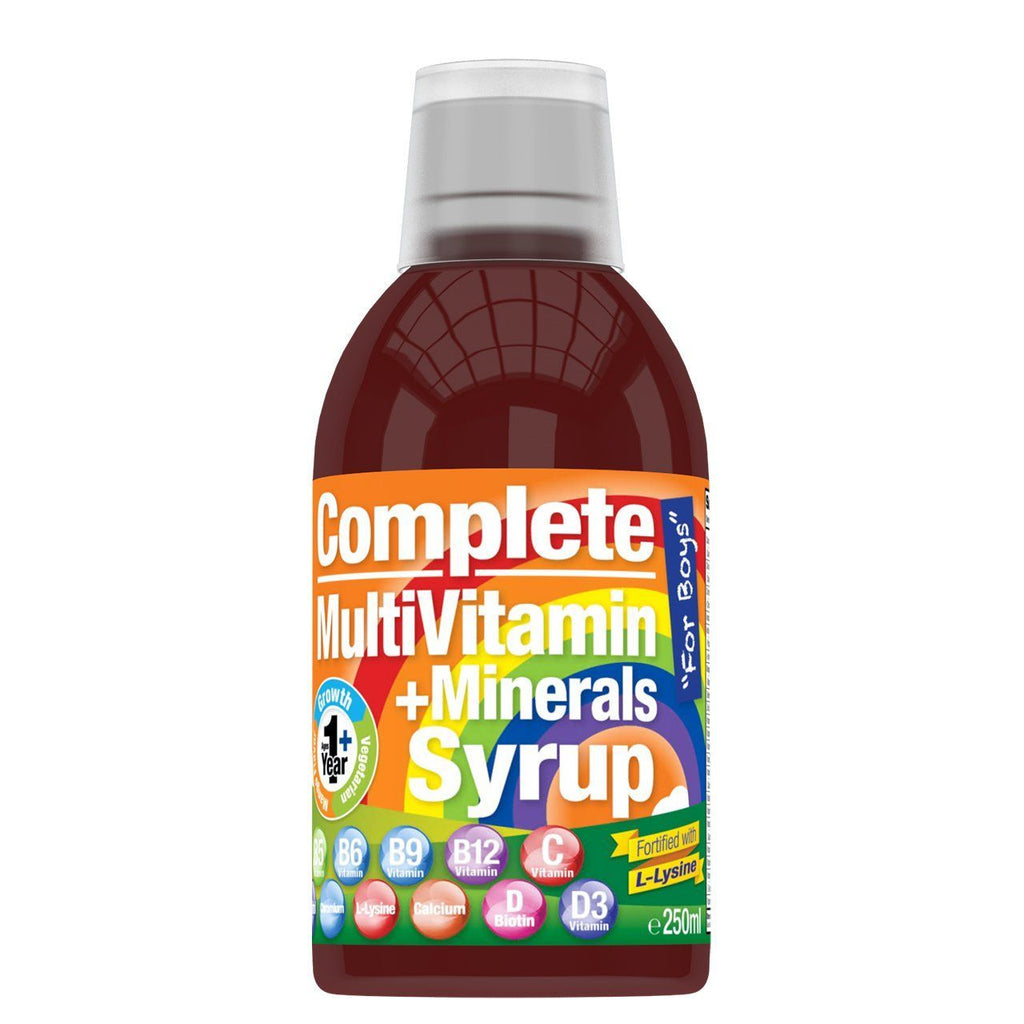 Multivitamins + Lysine Mango Syrup for Boys (250ml) - HealthPasar