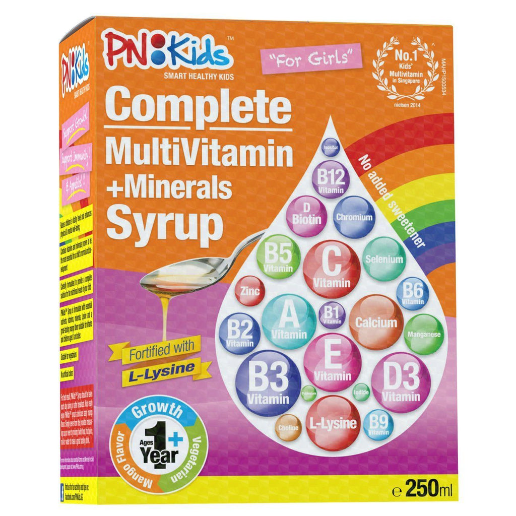 Multivitamins + Lysine Mango Syrup for Girls (250ml) - HealthPasar
