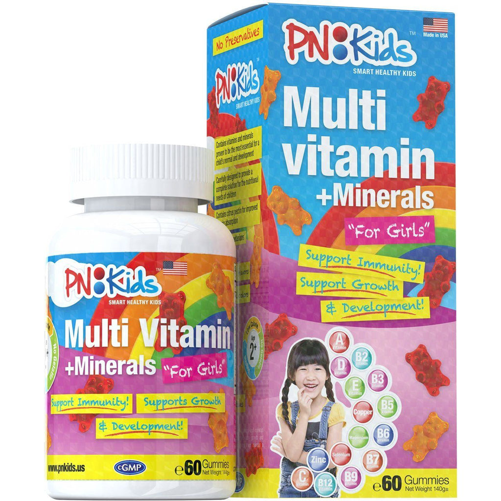 Multi Vitamins + Minerals Gummies for Girls (60s) - HealthPasar