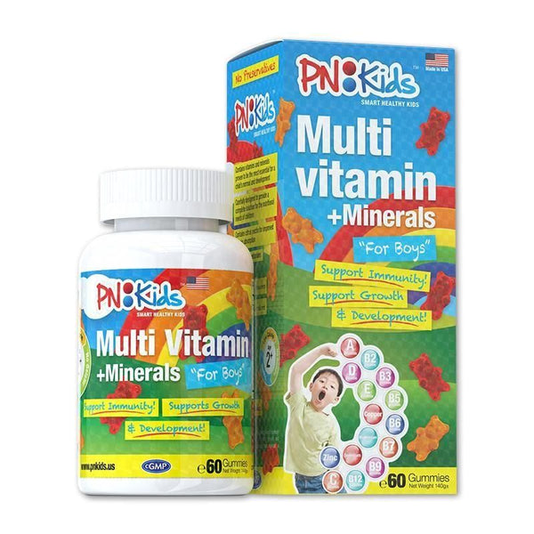Multi Vitamins + Minerals Gummies for Boys (60s) - HealthPasar