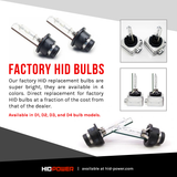 D1R/D1S FACTORY HID REPLACEMENT BULBS (PAIR)