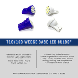 LED Wedge Base Bulbs 8-SMD (t10/168)