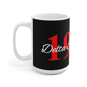 Delta Sigma Theta 1913 Black White 11 oz and 15 oz Mug