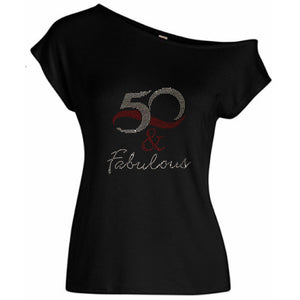 50 And Fabulous Rhinestone T-Shirt