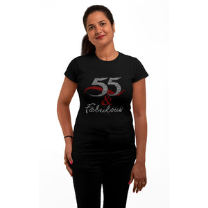 55 And Fabulous Rhinestone T-Shirt
