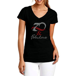70 And Fabulous Rhinestone T-Shirt
