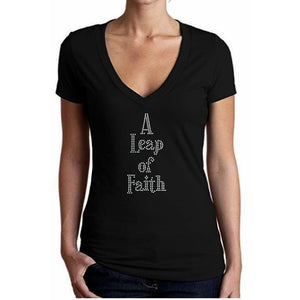 A Leap Of Faith Rhinestone T Shirt