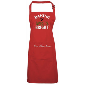 Baking Spirits Bright Personalized Apron