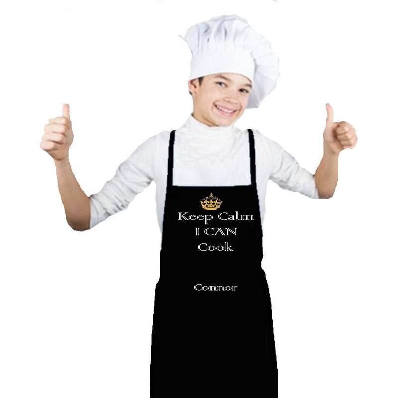 Apron - Keep Calm I Can Cook Jr. Chef Personalized Apron