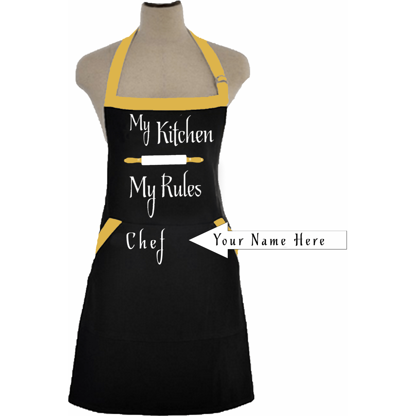 My Kitchen My Rules Personalized Apron – Zoe and Eve