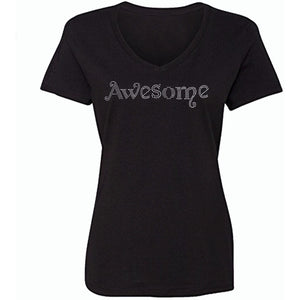 Awesome Rhinestone T-Shirt S / Black Short T-Shrts