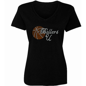 Ballers U Rhinestone Basketball T SHirt - Zoe and Eve