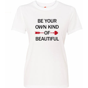 Be Your Own Kind Of Beautiful Glitter Rhinestone Tee S / White Crew T-Shrts