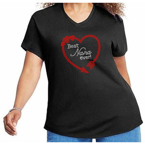 Best Nana Ever Rhinestone Bling T Shirt