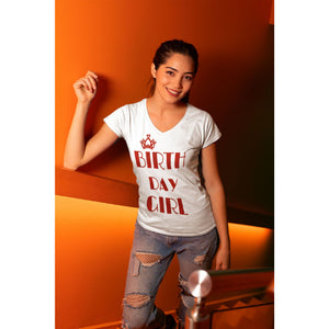 Birth Day Girl Glitter T-Shirt