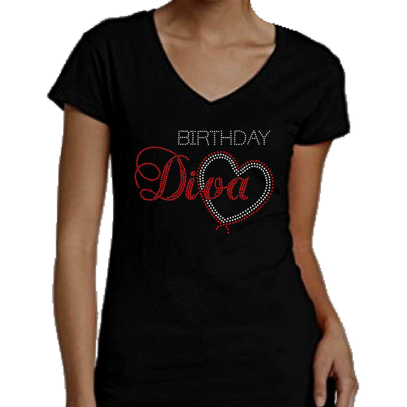 d62a86d20 Birthday Diva With Heart Rhinestone T-Shirt – Zoe and Eve
